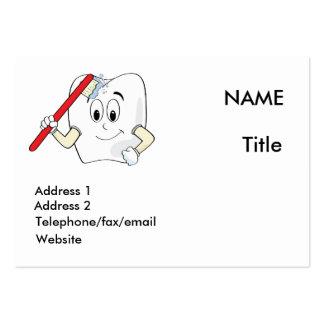 Cartão do dentista cartão de visita grande