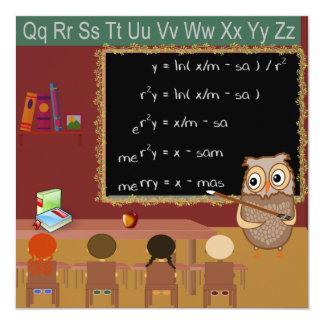 Cartão do desejo do Natal da matemática