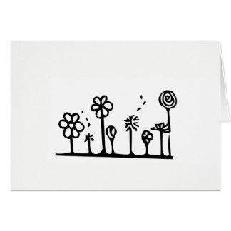 Cartão do desenho da flor - vazio para dentro