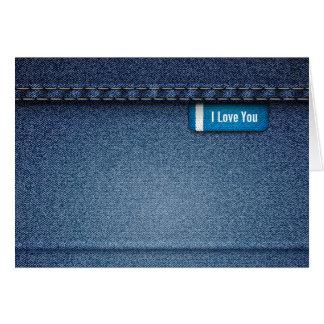 Cartão do design 1 de jeans