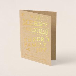 Cartão do design da tipografia do Natal do quadro