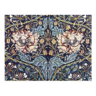 Cartão do design de matéria têxtil da madressilva