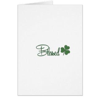 Cartão ☘ do design do dia de St Patrick abençoado