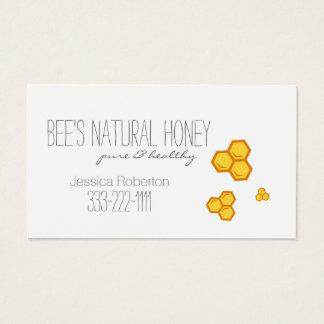 Cartão do design do favo de mel do apicultor do