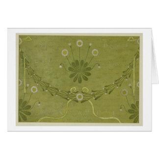 """Cartão Do """"design do papel de parede de Margarete La"""","""