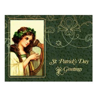 Cartão do design do vintage do dia de St Patrick