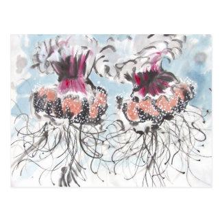 Cartão do detalhe das medusa de Cephea