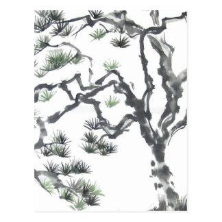 Cartão do detalhe do pinheiro