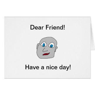 Cartão do dia agradável da amizade