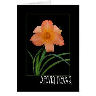 cartão do dia conhecido com hemerocallis
