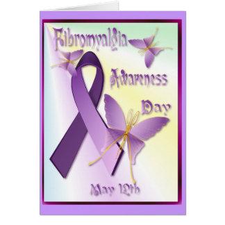 Cartão do dia da consciência da fibromialgia