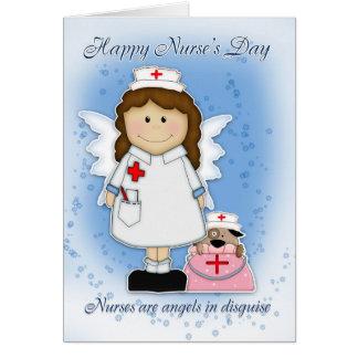 Cartão do dia da enfermeira - anjos no disfarce