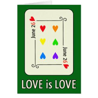 Cartão do dia da igualdade do casamento