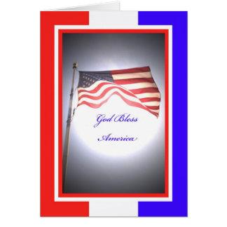 Cartão do Dia da Independência - deus abençoe