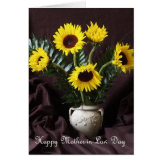 Cartão do dia da luz do sol e da sogra da