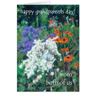 Cartão do dia das avós - de ambos nós - papoilas