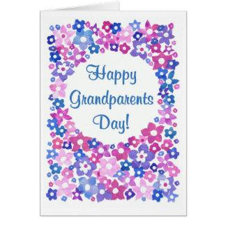 """Cartão do dia das avós de """"flower power"""""""