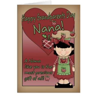Cartão do dia das avós de Nana - senhora pequena