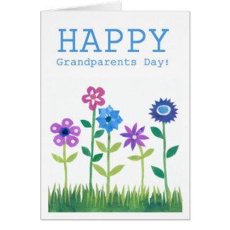 Cartão do dia das avós - flower power