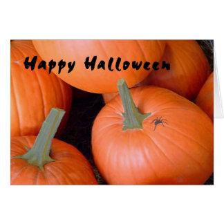 Cartão do Dia das Bruxas com abóboras