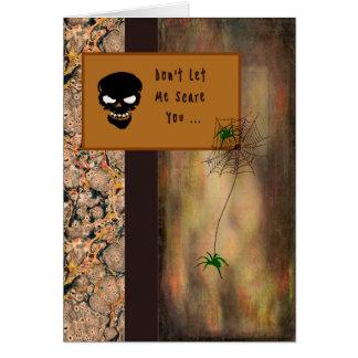 Cartão do Dia das Bruxas com um esqueleto e as