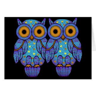 Cartão do Dia das Bruxas da coruja de H00t