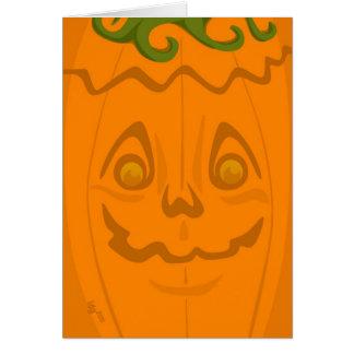 Cartão do Dia das Bruxas da lanterna do o de Jack