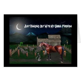 Cartão do Dia das Bruxas do cavalo