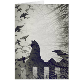 Cartão do Dia das Bruxas do gato preto
