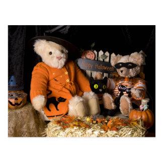 Cartão do Dia das Bruxas do urso de ursinho 4812