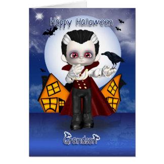 cartão do Dia das Bruxas do vampiro do