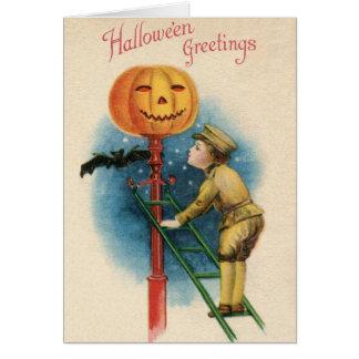 Cartão do Dia das Bruxas do Victorian