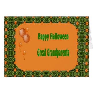 Cartão do Dia das Bruxas para o excelente - avós