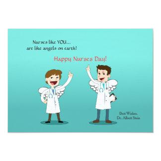 Cartão do dia das enfermeiras dos anjos da convite 12.7 x 17.78cm