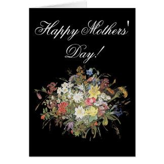 Cartão do dia das mães alpinas de Edelweiss da