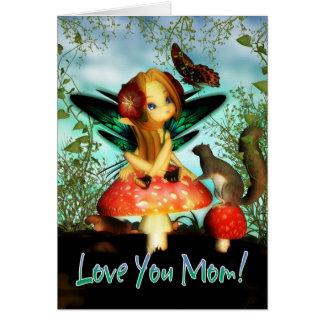 Cartão do dia das mães - ame-o mamã, feira pequena