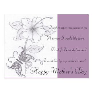 Cartão do dia das mães cartao postal