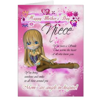 Cartão do dia das mães, coleção da torta de Moonie