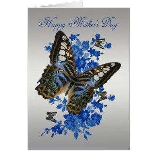 Cartão do dia das mães com borboletas
