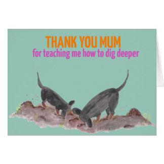 Cartão do dia das mães com ilustração bonito do