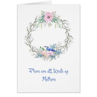 Cartão do dia das mães com Jay azul