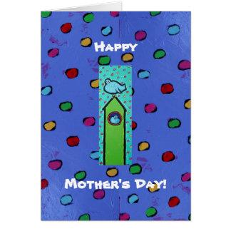 Cartão do dia das mães com lotes dos bluebirds