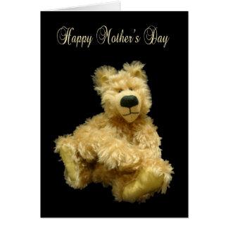 Cartão do dia das mães com o urso de ursinho de an