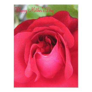 Cartão do dia das mães convite personalizado