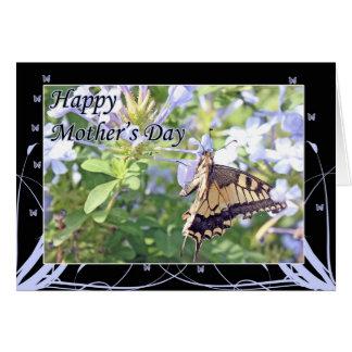 Cartão do dia das mães da borboleta