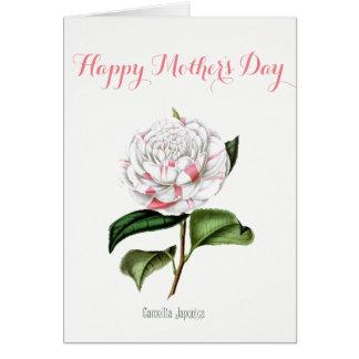 Cartão do dia das mães da camélia do vintage