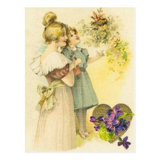 Cartão do dia das mães da mãe & da filha do Victor Cartão Postal