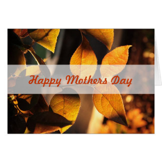 Cartão do dia das mães das folhas de outono