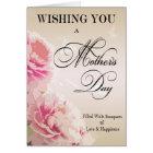 Cartão do dia das mães das peônias do dia das mães
