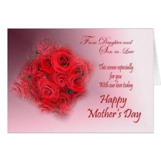Cartão do dia das mães das rosas vermelhas